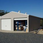 Storage shed built on a water tank